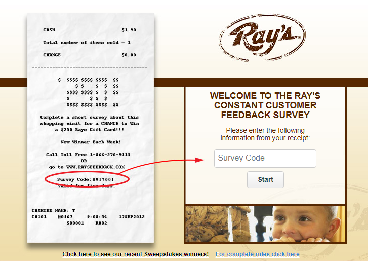 Ray's Food place Customer Satisfaction Survey